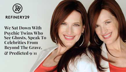 foto de The Psychic Twins in Refinery 29 Magazine The Psychic Twins