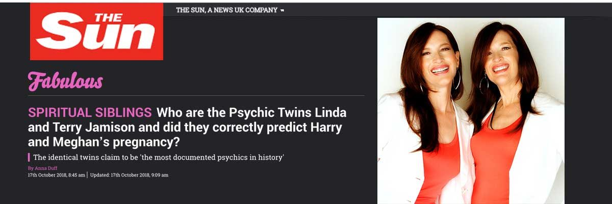 The Psychic Twins - The Only Official Psychic Twins Web Site - Terry